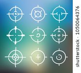 different icon set of targets... | Shutterstock .eps vector #1050064376
