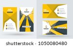 double sided creative business... | Shutterstock .eps vector #1050080480