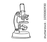 microscope vector illustration... | Shutterstock .eps vector #1050083930
