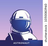 astronaut.  the first cosmonaut.... | Shutterstock .eps vector #1050083960
