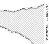 torn wide hole in white sheet... | Shutterstock .eps vector #1050084764