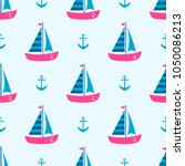 background with boats and...   Shutterstock .eps vector #1050086213