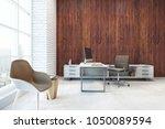 contemporary office interior... | Shutterstock . vector #1050089594