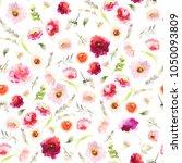 seamless summer pattern with... | Shutterstock . vector #1050093809