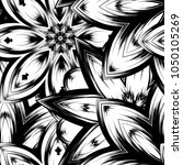 seamless floral background.... | Shutterstock .eps vector #1050105269
