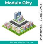 megapolis city quarter | Shutterstock . vector #1050106916