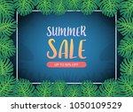 summer sale background banner... | Shutterstock .eps vector #1050109529