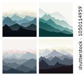 mountains landscape set. nature ... | Shutterstock .eps vector #1050114959