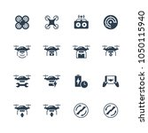 vector quadcopter related icon... | Shutterstock .eps vector #1050115940
