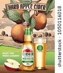 hard apple cider ads ... | Shutterstock .eps vector #1050116018