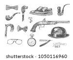 victorian era collection ... | Shutterstock .eps vector #1050116960