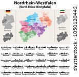 germany state north rhine... | Shutterstock .eps vector #1050120443