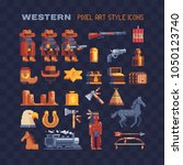western wild west and native... | Shutterstock .eps vector #1050123740