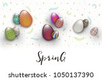 spring easter is a beautiful... | Shutterstock .eps vector #1050137390