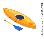 rafting boat in isometry style. ...   Shutterstock .eps vector #1050137918