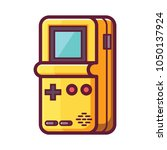 retro game electronic console....   Shutterstock .eps vector #1050137924