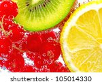 Fruit Slices In Water  Currant...