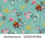 seamless floral pattern in... | Shutterstock .eps vector #1050149306