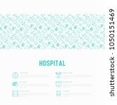 hospital concept with thin line ... | Shutterstock .eps vector #1050151469