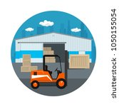 icon warehouse and transport... | Shutterstock .eps vector #1050155054