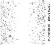 sparkling silver stars... | Shutterstock .eps vector #1050156380