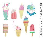 ice cream illustrations | Shutterstock . vector #1050168113