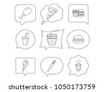 vegetarian burger  pizza and...   Shutterstock .eps vector #1050173759