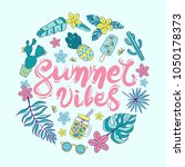 "quote ""summer vibes"". hand... 