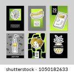pop art style fashionable... | Shutterstock .eps vector #1050182633