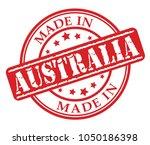 made in australia red rubber...   Shutterstock .eps vector #1050186398