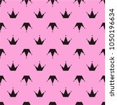 simple seamless pattern with... | Shutterstock .eps vector #1050196634