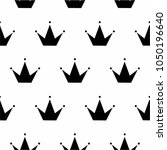 black and white princess crown... | Shutterstock .eps vector #1050196640