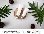 natural cosmetic cream   serum  ... | Shutterstock . vector #1050196793