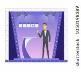 wheel of fortune presenter  ... | Shutterstock .eps vector #1050198389