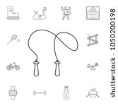 the skipping rope icon. jumping ... | Shutterstock .eps vector #1050200198