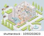 nursing home. assisted living... | Shutterstock . vector #1050202823