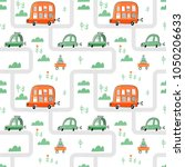 seamless vector pattern with... | Shutterstock .eps vector #1050206633