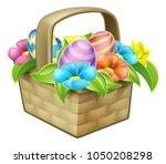 an illustration of an easter...   Shutterstock . vector #1050208298