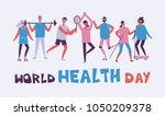world health day background... | Shutterstock .eps vector #1050209378