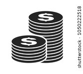 coins stack icon  vector | Shutterstock .eps vector #1050222518