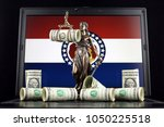 symbol of law and justice ... | Shutterstock . vector #1050225518
