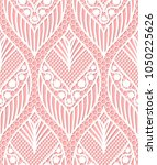 seamless lace pattern made of... | Shutterstock . vector #1050225626