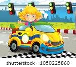 cartoon funny and happy looking ... | Shutterstock . vector #1050225860