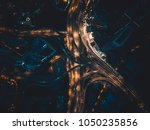 aerial view above of busy... | Shutterstock . vector #1050235856