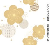 floral background with japanese ... | Shutterstock .eps vector #1050237704
