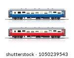 vector of passenger cars red... | Shutterstock .eps vector #1050239543