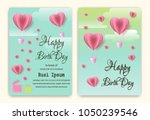 happy birthday background with... | Shutterstock .eps vector #1050239546