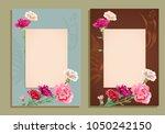 two vertical frame  template... | Shutterstock .eps vector #1050242150