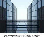 3d stimulate of highrise glass...   Shutterstock . vector #1050242504
