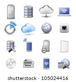 big collection of it devices... | Shutterstock .eps vector #105024416